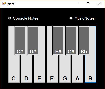 آموزش ساخت پیانو در سی شارپ