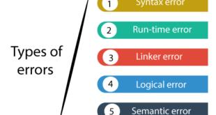 انواع خطاهای برنامه نویسی